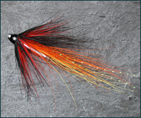Salmon Tube Fly - Fiery Shrimp