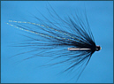 Black and Silver Tube Fly